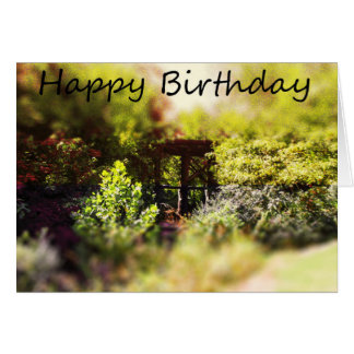 Happy Birthday Card with amongst Tree scene