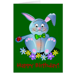 Happy Birthday card with Bunny