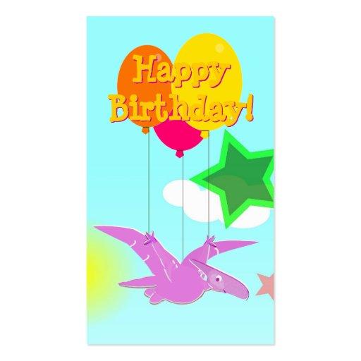 Happy Birthday Cartoon Dinosaurs Small Cards Business Cards