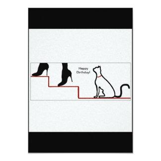 "Happy Birthday Cat 4.5"" X 6.25"" Invitation Card"