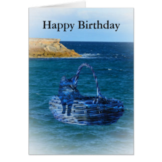 Happy Birthday, Cat Sea Adventure  Greeting Card