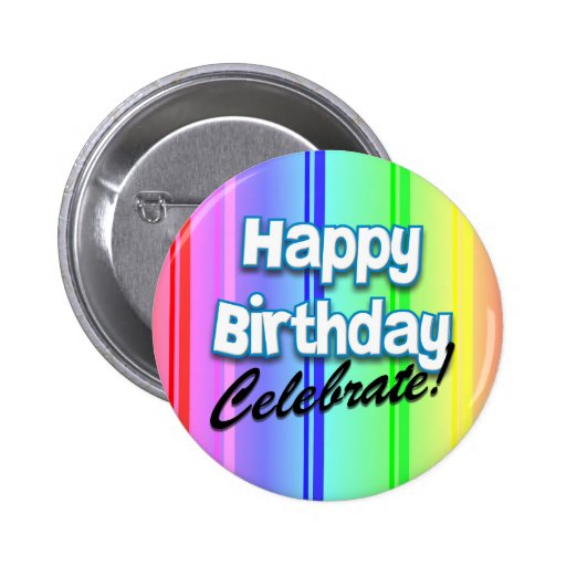 Happy Birthday Celebrate Button