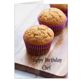 Happy birthday Chef - cupcake Card