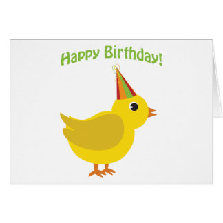 Happy Birthday! chick Cards