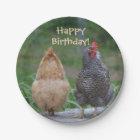 Happy Birthday Chicken Paper Plate