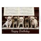 Happy Birthday Chihuahua Puppy Dog   ( Chewawa ) Card