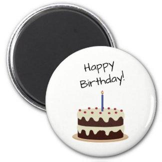 Happy Birthday Chocolate and Vanilla Cake Magnet