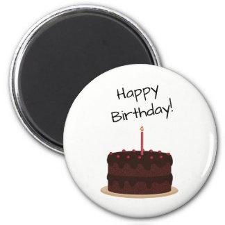 Happy Birthday Chocolate Cake Magnet