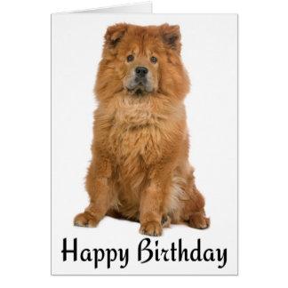 Happy Birthday Chow Chow Puppy Dog Card