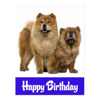 Happy Birthday Chow Chow Puppy Dog Postcard