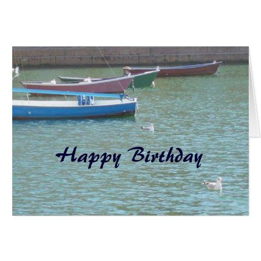 Happy Birthday Christian Card - Boats 2