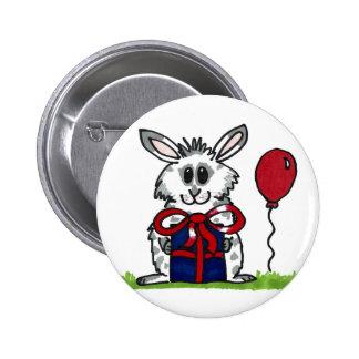 'Happy Birthday!' Chubby Bunny Design 6 Cm Round Badge