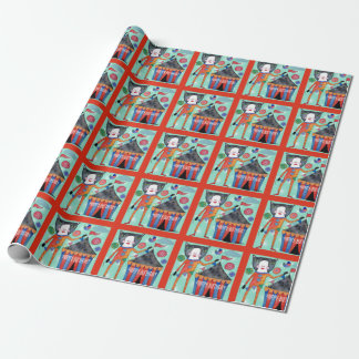 Happy Birthday Circus Cat Gift Wrap Wrapping Paper