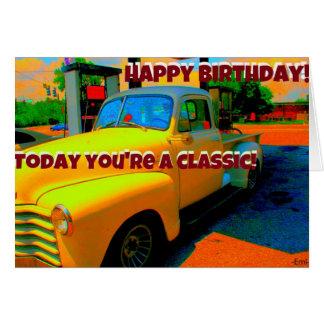 Happy Birthday Classic Auto Birthday Card