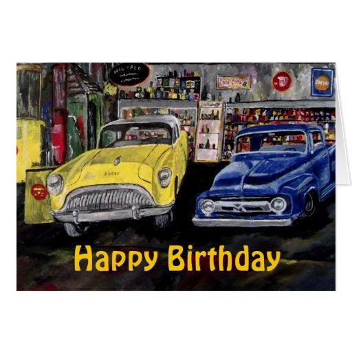 Free Printable Birthday Cards Classic Car