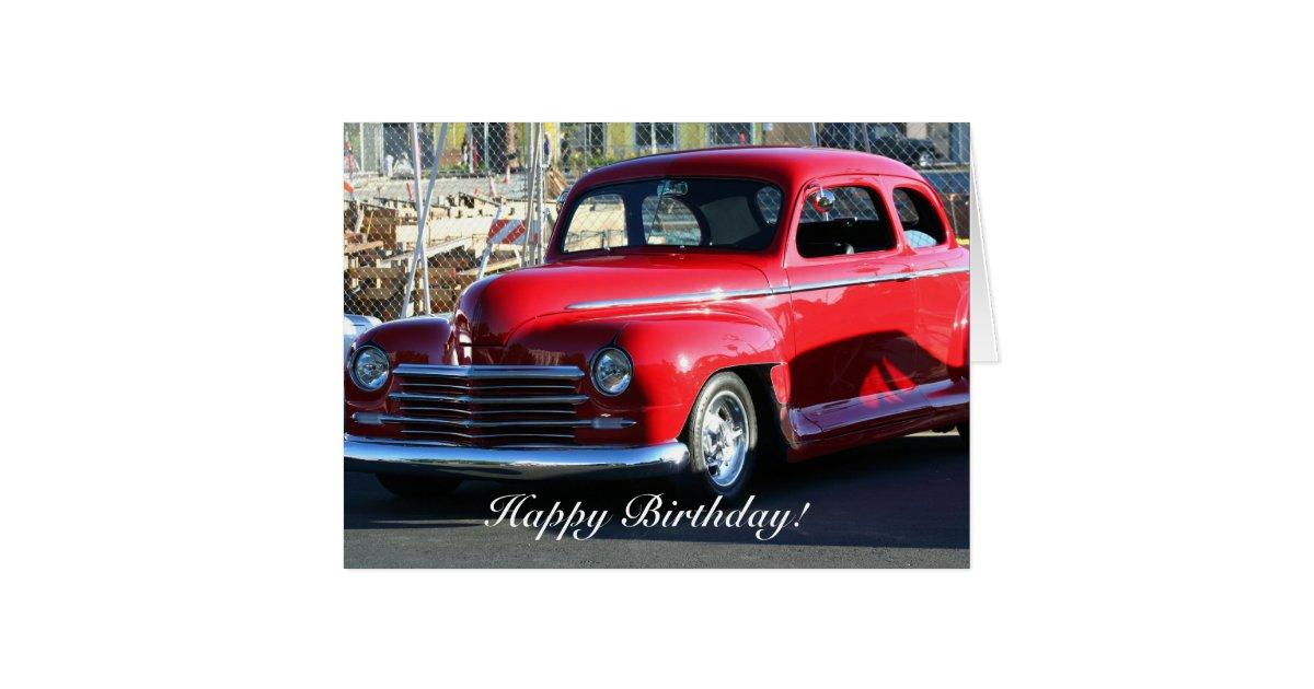 Happy Birthday Classic Car Greeting Card