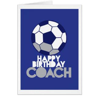 Happy Birthday COACH with soccer ball Card