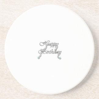 happy birthday beverage coaster