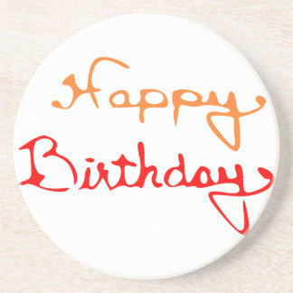 Happy Birthday Drink Coasters