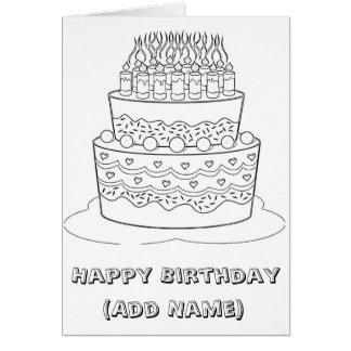 Happy Birthday Color it Yourself Birthday Card