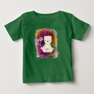 Happy Birthday Colorburst TeddyBear Baby T-Shirt