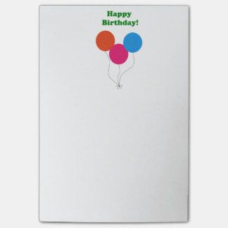 Happy Birthday Colorful Balloons Cartoon Post-it® Notes