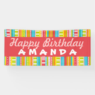 Happy Birthday Colorful Celebration Banner