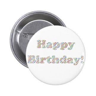 Happy Birthday Colorful Circles Pins
