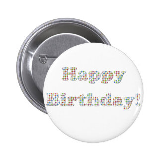 Happy Birthday Colorful Circles Pins