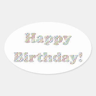 Happy Birthday Colorful Circles Sticker