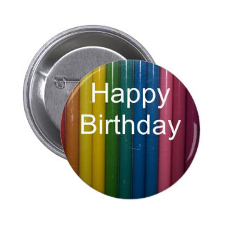 happy birthday colors button