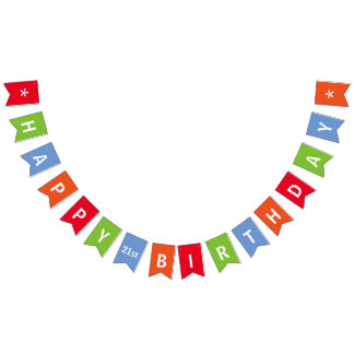 Happy Birthday Colourful Personalised Bunting