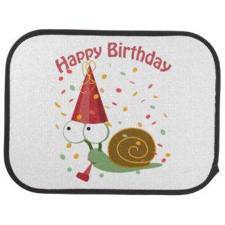 Happy Birthday! Confetti Snail Car Mat