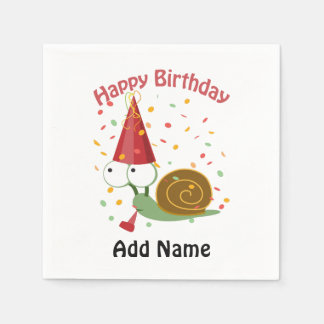 Happy Birthday! Confetti Snail Disposable Napkins