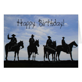 Happy Birthday cowboys greeting card