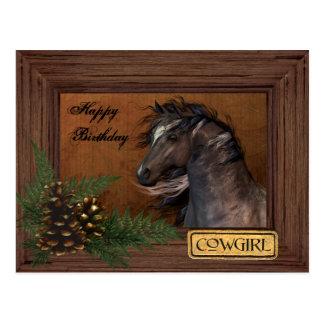 Happy Birthday Cowgirl Postcard