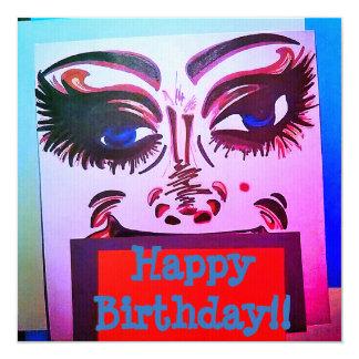 HAPPY BIRTHDAY, CRAZY CLOWN CARD