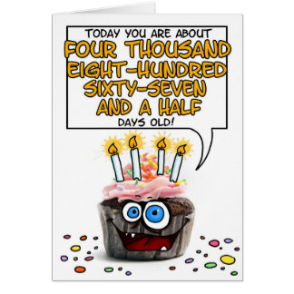 Happy Birthday Cupcake - 13 years old Card