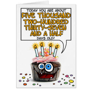 Happy Birthday Cupcake - 14 years old Card