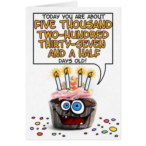 Happy Birthday Cupcake - 14 years old Card