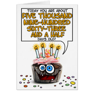 Happy Birthday Cupcake - 16 years old Card