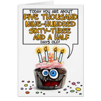 Happy Birthday Cupcake - 16 years old Card