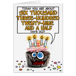 Happy Birthday Cupcake - 17 years old Greeting Card