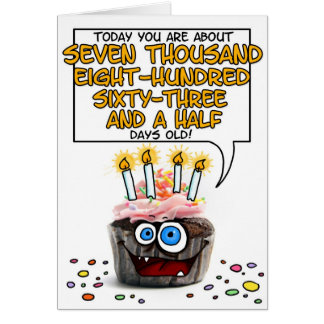 Happy Birthday Cupcake - 21 years old Card
