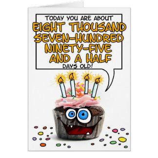 Happy Birthday Cupcake - 24 years old Card