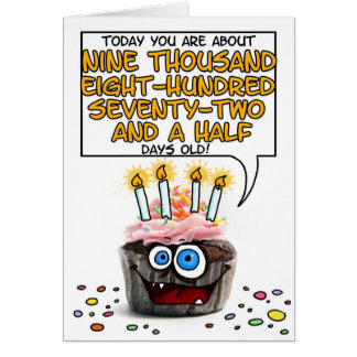 Happy Birthday Cupcake - 27 years old Card