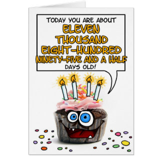 Happy Birthday Cupcake - 32 years old Card