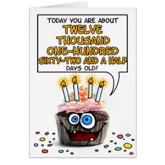 Happy Birthday Cupcake - 33 years old Card