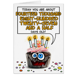 Happy Birthday Cupcake - 40 years old Card
