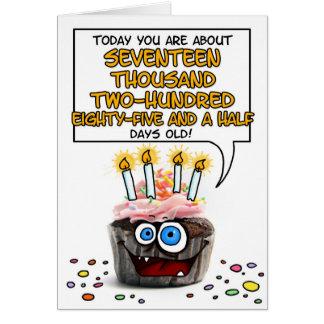 Happy Birthday Cupcake - 47 years old Card